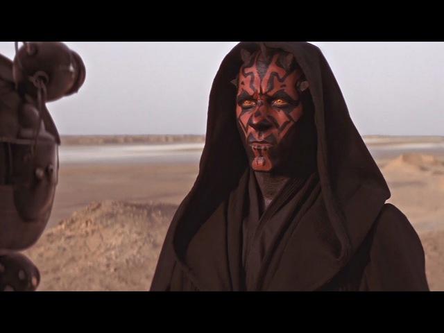 Квай-Гон Джинн против Дарта Мола. Первая встреча. Битва на Татуине. Звёздные войны эпизод 1.
