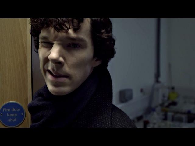 Доктор Ватсон знакомится с Шерлоком. Сериал Шерлок.