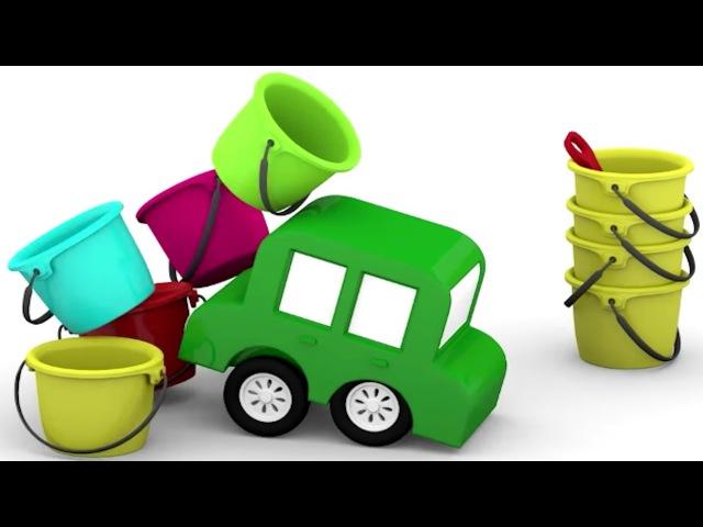 Çizgi Film - Arabalar sahilde oyuncakları topluyor