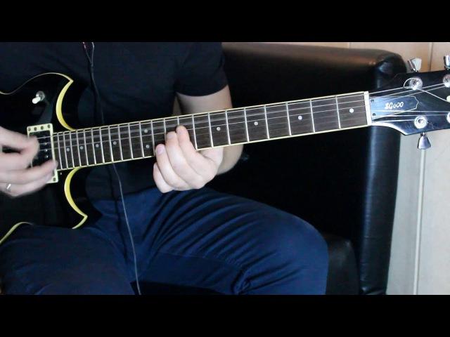 Как играть Виктор Цой Группа Крови,Ю. Каспарян,соло (обучающий ролик) Yamaha SG-600