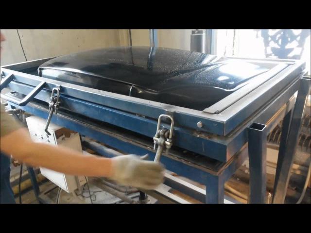 Вакуум формовочная машина ТВФМ 1 формование капота газели