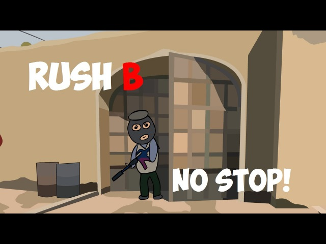 CS:GO Cartoon. Rush
