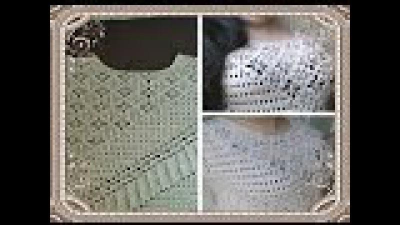 Blusa tejida en crochet - blusa tejida paso a paso en ganchillo - parte 1
