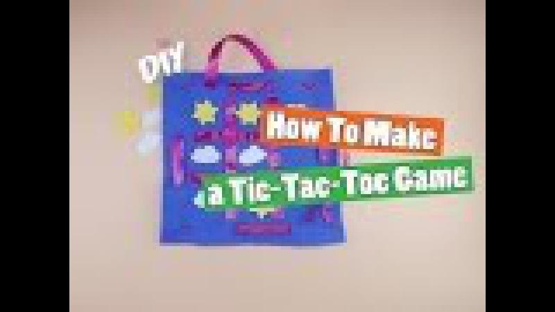 DIY: How to make a Tic Tac Toe Game - Kids crafts