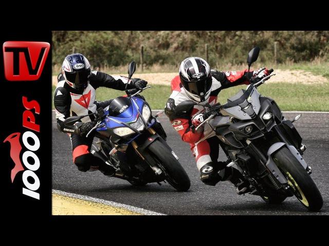 Aprilia Tuono V4 1100 RR vs Yamaha MT 10 Vergleichstest Rennstrecke