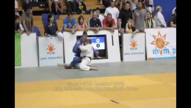 Judo 2009 Paks -63kg Giorgis V (ITA) - Levytska T (UKR) - Bronze Junior Atom Cup