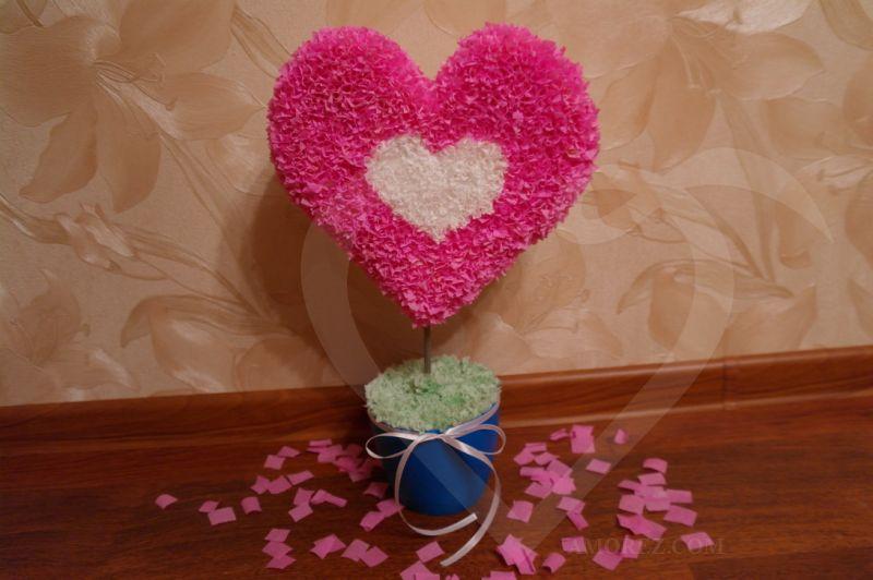 Поделки ко дню святого валентина из бумаги мастер класс с пошаговым фото