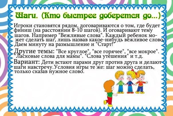 Игры для развития речи малышей с 3-х до 5-ти лет.