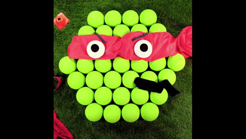 Here's one way to have a ball in gym class... @TMNT-style! 😂🎾🏀⚽️ stopmotion