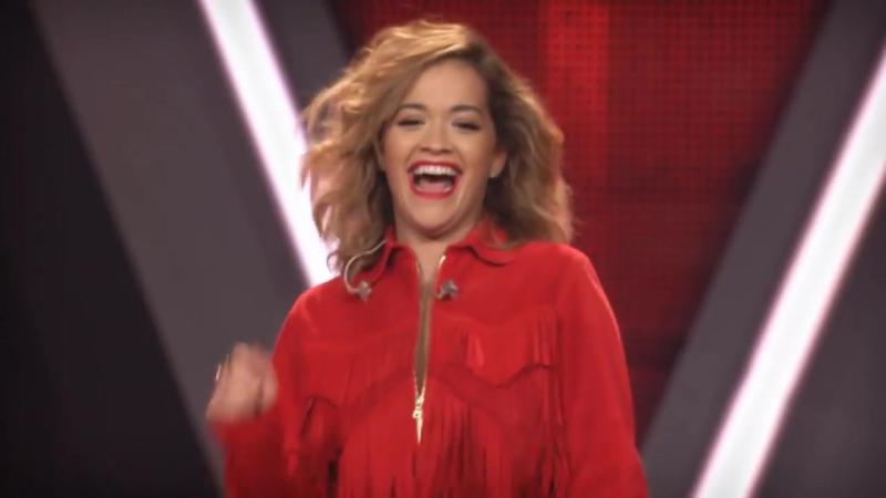 Рита Ора \ Rita Ora sings at The Voice Of Germany [HD] 16 11 2017 телешоу The Voice Берлин Германия.