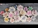 Foamiran flowers tutorial with Rosy Owl dies and Chameleon pens kurs na kwiatek z foamiranu