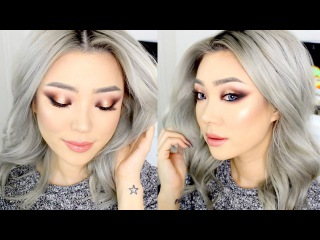 Holiday Makeup | Warm Gold Smokey Eyes using Morphe 35O