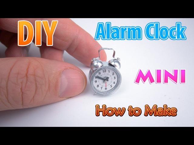 DIY Realistic Miniature Alarm Clock | DollHouse | No Polymer Clay!