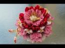 Бантик - цветок для принцесс, мастер класс, канзаши из лент / DIY Ribbon Flower Kanzashi