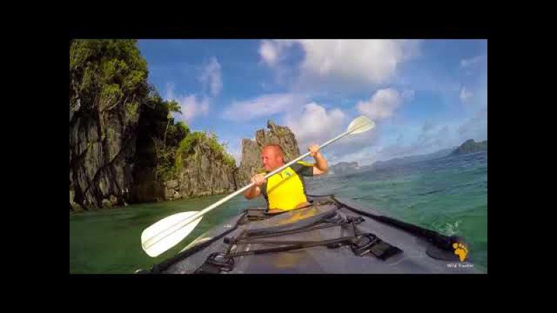 На каяке по Филиппинам. Kayaking in El Nido