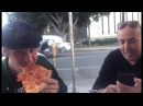Justin Bieber eating pizza FaceTime talking to a fan in Los Angeles California - November 30, 2016
