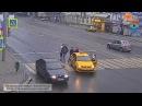 Драка на дороге пешеходы против водителей
