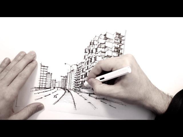 How it all started. Sketch 1/6 for Binghatti, Dubai