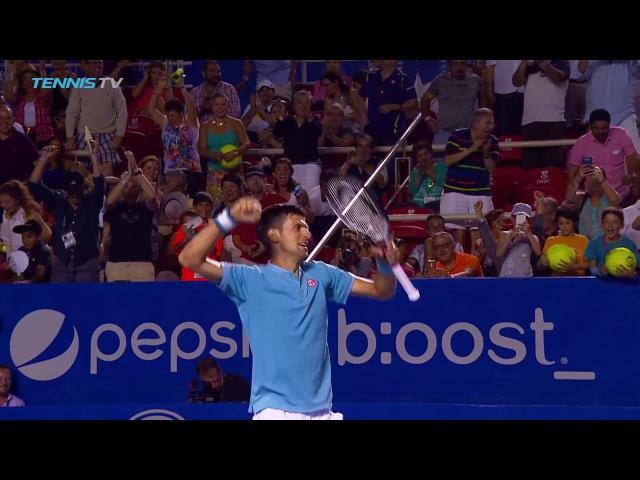 КРАСИВЫЙ МАТЧБОЛ НОЛЕ И КЛИЖАНА (Watch Hot Shot: Djokovic Match Point Celebration At Acapulco 2017)