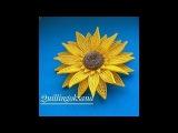 Подсолнух квиллинг часть 2Sunflower quillingPart 2Tutorial  Сборка цветка