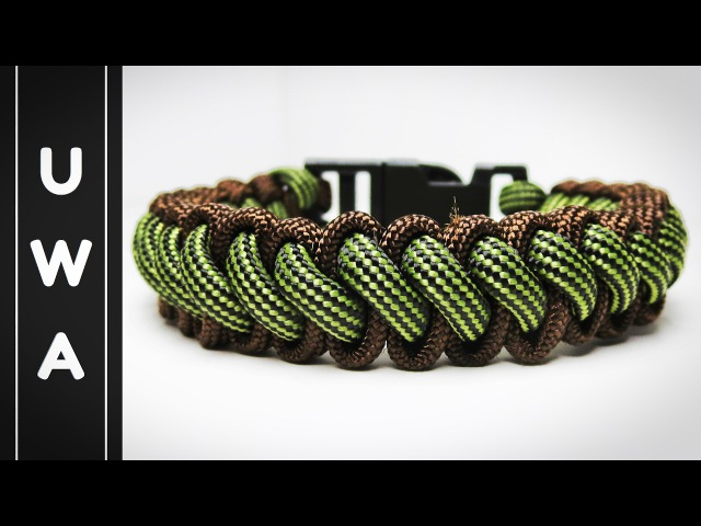 How to make the Bootlace Paracord Survival Bracelet With Buckle (Curling Millipede) [Tutorial]
