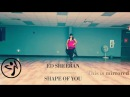 Zumba Fitness Shape of you Ed Sheeran. Dance fitness.