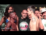 GUILLERMO RIGONDEAUX VS MOISES FLORES - WEIGH IN & FACE OFF