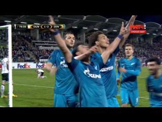 Футбол. Лига Европы. Группа D. 3-й тур. Дандолк-Зенит 1:2 77' Виктор Жулиано
