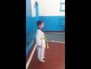 Бабкин Даниил проводит разминку у младшей группы_начало Тренировок_Тхэквондо в Новой Сидоровке_Март 2017 (3)