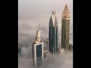 Вид с крыши самого высокого здания в мире
