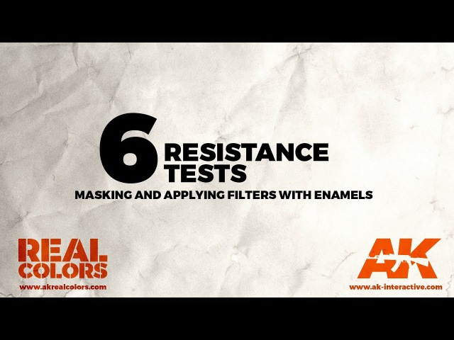 6.RESISTANCE TEST: Masking and applying filters with enamels - ||ENG||