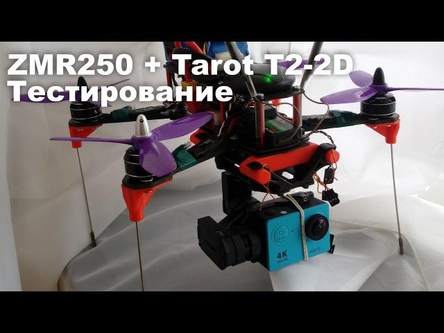 ZMR250 iNav 1.7. Тестирование 2D подвеса Tarot T2-2D. Камера Eken H9
