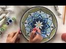 МК по декорированию тарелки в технике Точечная роспись | Как раскрасить тарелку | point-to-point