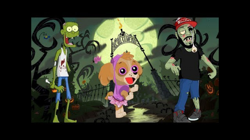 😵 Witch and zombies atack paw patrol tower defence pups and fight vs monsters cartoon for kids 🌈