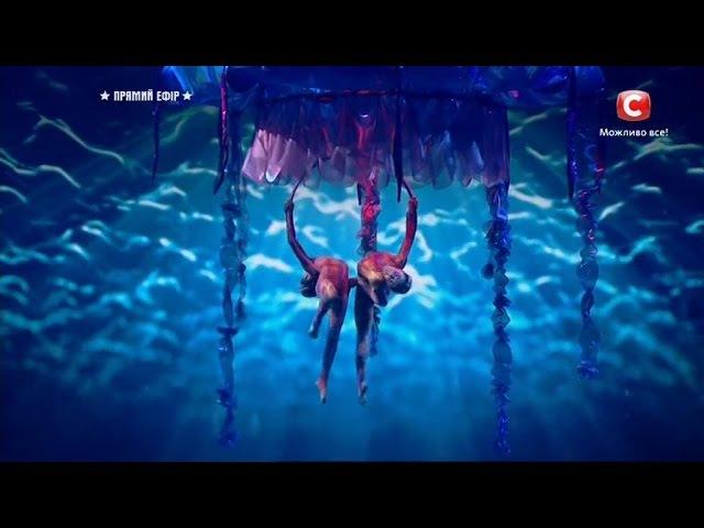Д Серкина и В Цой - воздушная гимнастика Україна має талант-9.Діти-2 прямой эфир [20.05.2017]