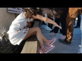 Sea Lion Drags Young Girl Into The Water At Fisherman's Wharf in Richmond B.C. Canada