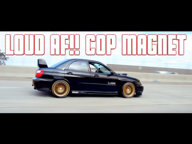 Ride Along VERY LOUD STRAIGHT PIPED 2004 Subaru WRX STI Full Bolt ON E85 EVO X