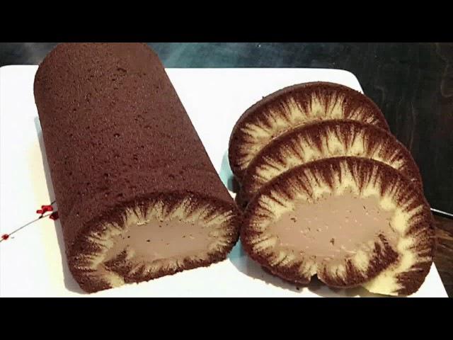 ШОКОЛАДНЫЙ ТОРТ РУЛЕТ 2 ЧАСТЬ!2/3 Hurricane Chocolate Cake Roll Swiss Roll Swissroll Super Moist!