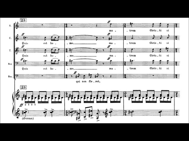 Francis Poulenc - Stabat mater [With score]