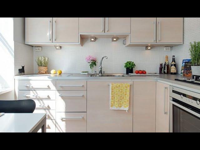 Дизайн кухни 7 кв. метров с высоким гарнитуром