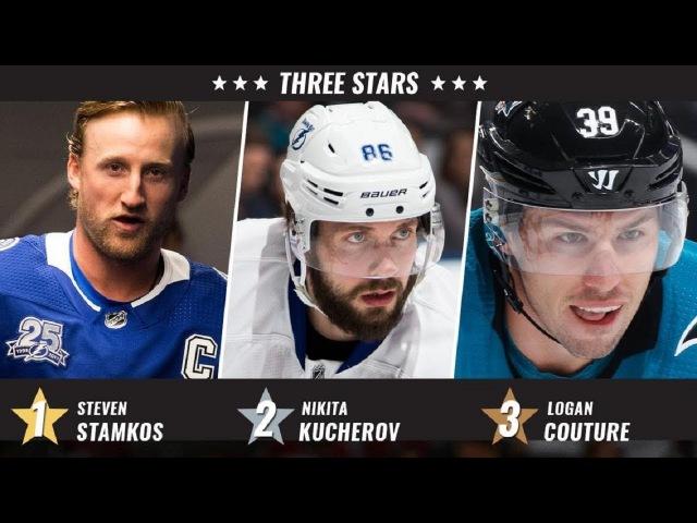 Кутюр, Кучеров и Стэмкос–три звезды прошлой недели в NHL...