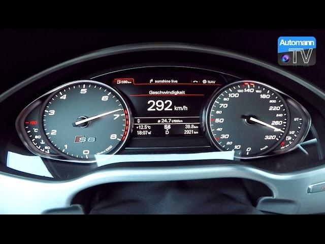 2017 Audi S8 plus (605hp) - 0-300 kmh acceleration (60FPS)