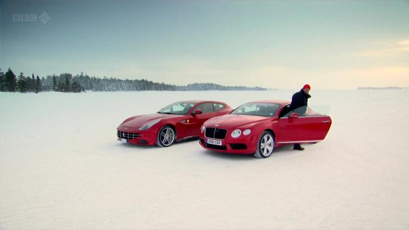 Ferrari FF (2011) vs Bentley Continental (2012) [Top Gear S18E04]