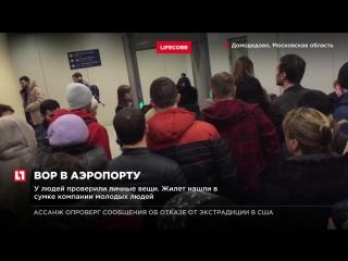 В Домодедово пассажиров задержали из-за вора, укравшего спасательный жилет