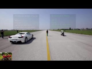 Мото против Авто. Сборка 2016. Moto vs Car drag race!!! - YouTube.mp4