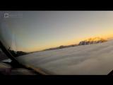 Посадка самолета сквозь облака это жутко и прекрасно одновременно