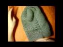 ♥Шапка бини♥Женская шапка мастер класс полное описание♥lesson 2.Вязаная шапка бини спицами♥