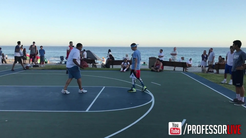 ProfessorLive - Professor vs. Trash Talker 1 on 1 for $100.. EPIC Beach Court (24-05-2017)
