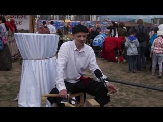 Рубка Мазыкской игрушки на Славянской Ярмарке (С-Пб 2017 год). Андрей Грушецкий