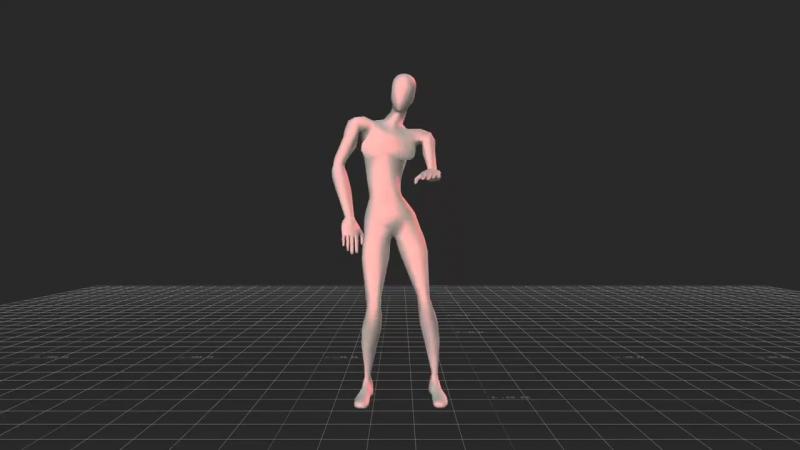 3D-модель женского танца, который привлекает внимание мужчин